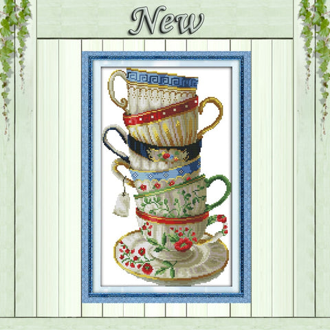 coffee cup DMC 14CT 11CT Cross Stitch kits needlework Set