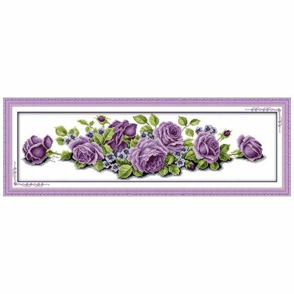 Rose Counted Cross Stitch 11CT Printed 14CT Handmade Cotton Cross Stitch Set flowers