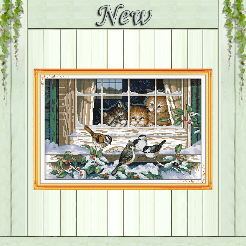 Landscape out of the window DMC 11CT 14CT Cross Stitch kit Needlework Set