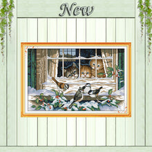 Load image into Gallery viewer, Landscape out of the window DMC 11CT 14CT Cross Stitch kit Needlework Set