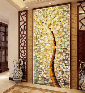 120*65 Needlework,DIY DMC Cross stitch,Set Full Embroidery kit,Luxury Lucky Rich Tree flower