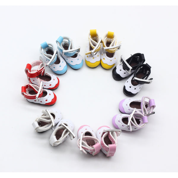 12 Inch Leather Lace Shoes For blyth Dolls (suitable for blyth ,AZ ,licca,Pullip doll ) 2.8*1.3cm