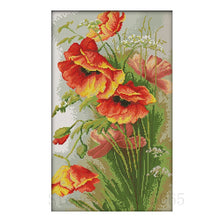 Load image into Gallery viewer, DIY Cross stitch kits 11ct 14CT Poppy Flower