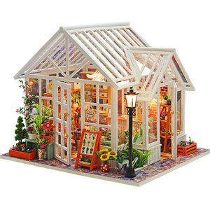 DIY Dollhouse Wooden Doll Houses Toys for Children Gift Sosa Greenhouse