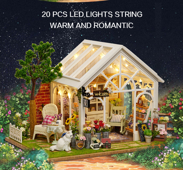 DIY Doll House Wooden Doll Houses Miniature Furniture Kit Toys for children Gift Sunshine A063