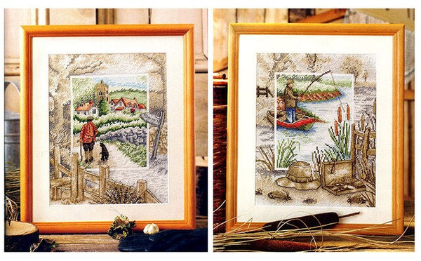 Cross Stitch Kit European magazine GOLD style 83-4 pastoral life scenery two