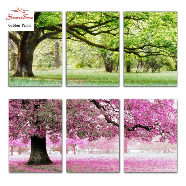 Needlework DIY DMC Cross stitch kits romantic trees