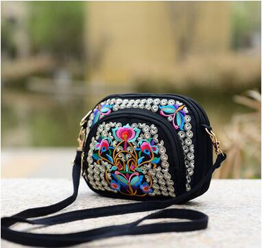 Flap bags fashion Ethnic National Versatile Lady canvas Shopping bags