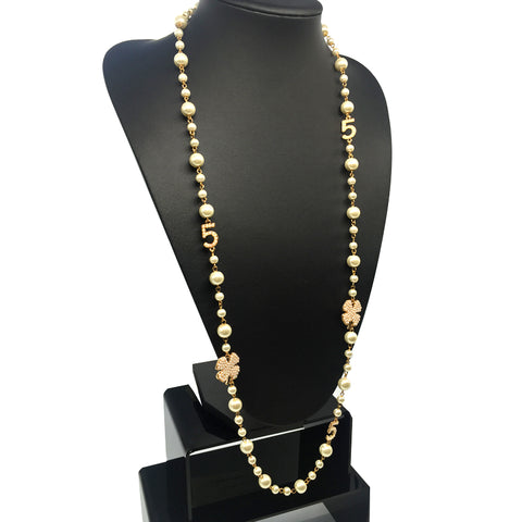 Jewelry Simulated Pearl Long Necklace Collar