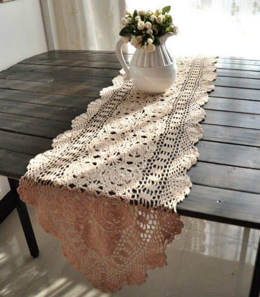 table runners  vintage hand crocheted table runners