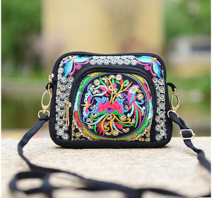 Cute bags fashionable Ethnic National Versatile Top Lady canvas Shopping Carrier