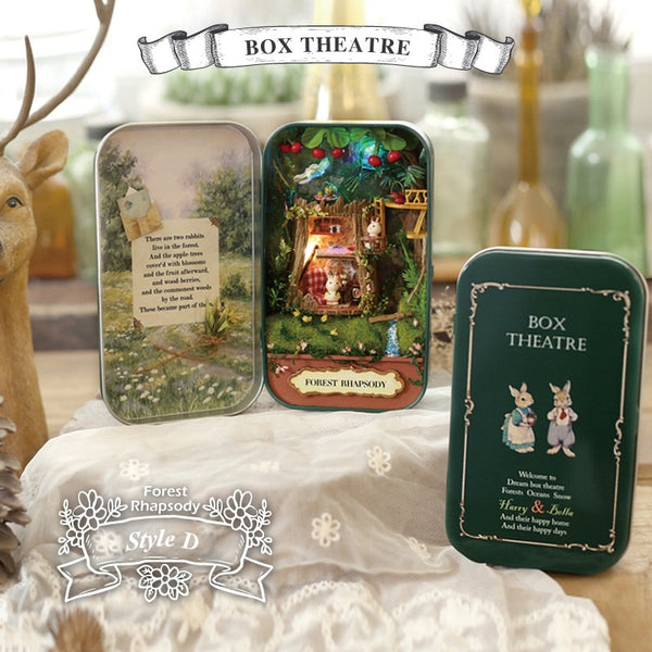 Box Theatre Doll House 3D Mini DIY  Dollhouse Furniture Toy for Gift