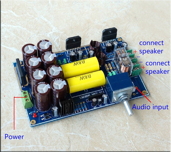 LM3886 Audio Amplifier Board Dual Channel Top Component Collector DIY KITS 68Wx2
