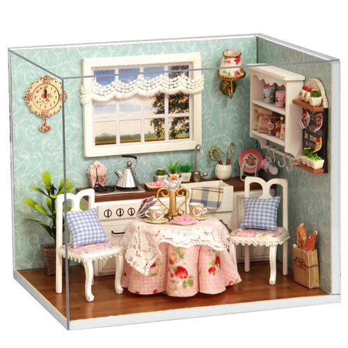 DIY Wooden Doll House Toy Dollhouse