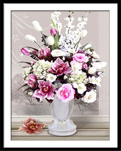 DIY Needlework DMC Cross stitch kit flowers Rose Vase