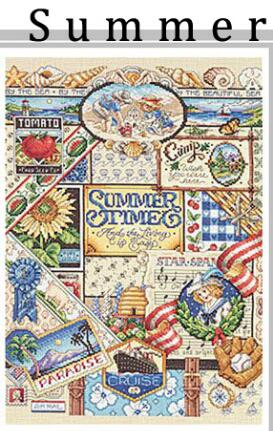 Gold Collection Lovely Counted Cross Stitch Kit Spring Summer Autumn Winter Time Sampler janlynn Four Seasons Season