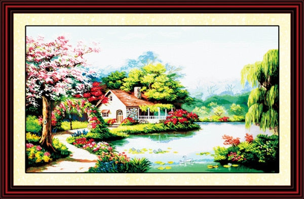 Counted Cross Stitch 11CT 14CT DMC Kit for Embroidery Home Decor Needlework