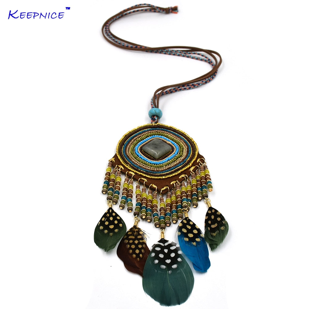 long fringe ethnic gypsy Necklaces for wemen