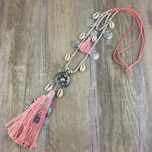 Load image into Gallery viewer, Boho All-match Sweater Chain Necklace Tassel Alloy Around Long Pendants