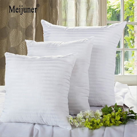 Square White Cushion Pillow interior Insert Soft PP Cotton for Home Decor Sofa Chair Throw