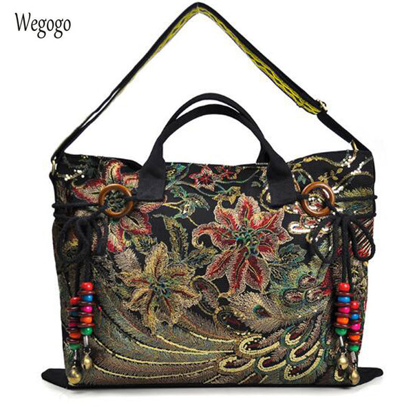 Vintage Embroidery Women Canvas