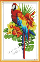 Load image into Gallery viewer, The Parrot and Flowers DMC Cross Stitch 14CT 11CT DIY Needlework Chinese Kits