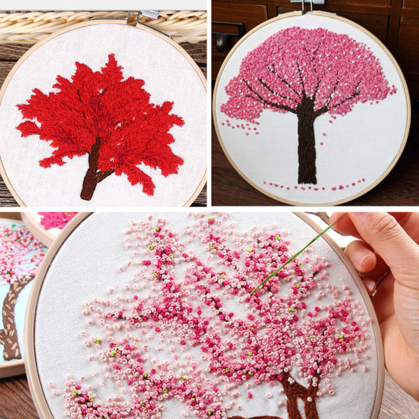 Sewing Painting with Embroidery Hoop Home Decor