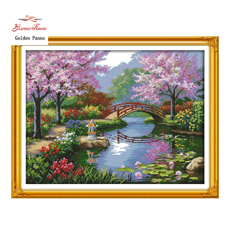 The Park patterns Cross Stitch 11CT 14CT  Kits Deco923