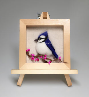 Bird series cartoon set wool needlepoint kit  wool felt needle felting decoration craft needlecraft DIY handmade