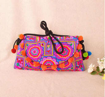 Handmade Ethnic Embroidery Shoulder Messenger Bohemian Clutch Handbags