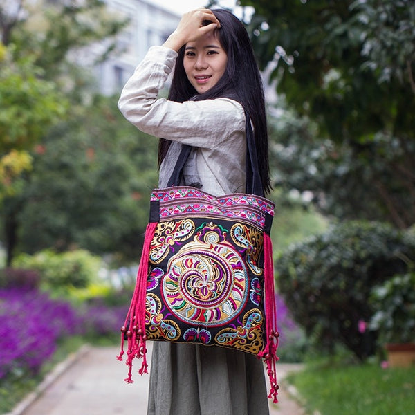 national Fashion embroidered bags