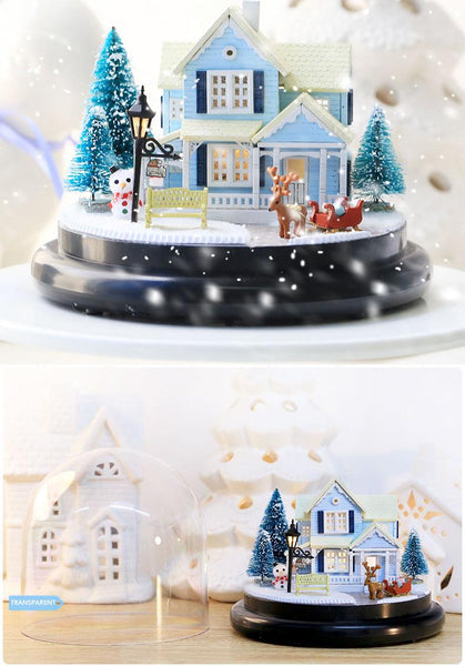 Doll House Miniature DIY With Furnitures Wooden House Christmas house Toys For Children B025