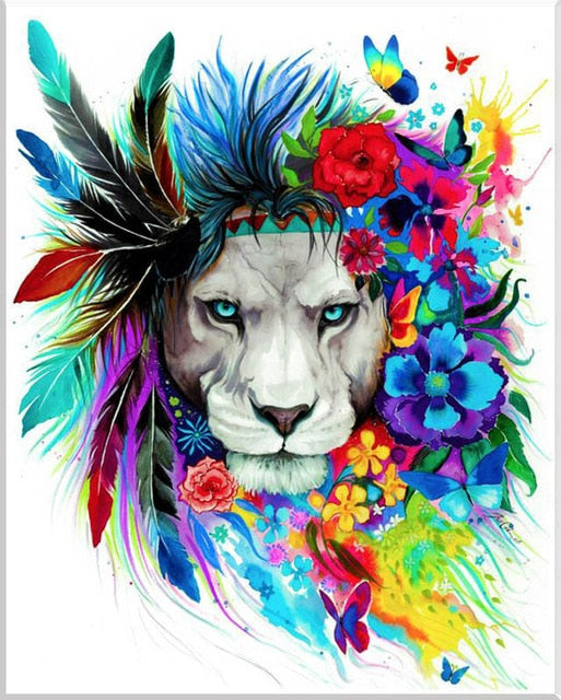 "Full Square/Round Drill 5D DIY Diamond Painting ""animal colorful paintings"" 3D Embroidery"