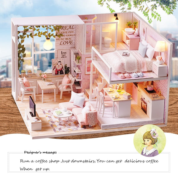 DIY Doll House Miniature Dollhouse Toys For Children Gift L022