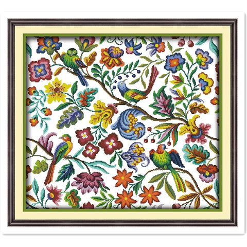 Needlework Dmc Cross Stitch Flowers Home Decor