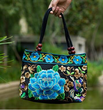 Embroidered Lady bags national trend handbag embroidered embroidery Lady carry bag
