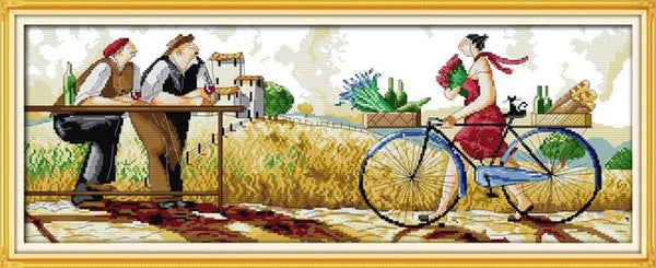 Enjoy life series Cross Stitch pattern kits DMC printed