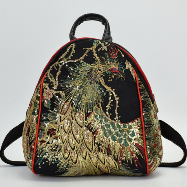Chinese Style Phoenix Embroidered