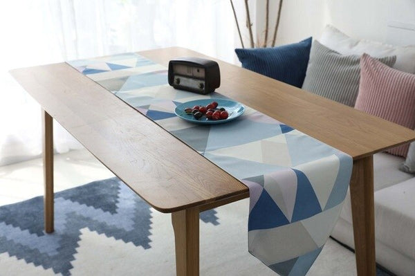 geometric table runner nordic polyester & cotton table runners for wedding ins home