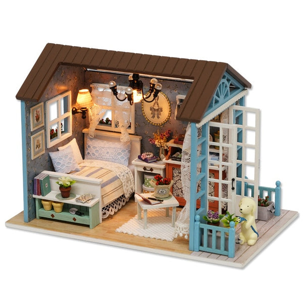 Doll House Miniature DIY Model With Furnitures Toy Forest Times Z007