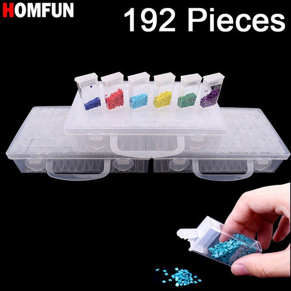 New Diamond embroidery diamond painting tool! Daimond transparent plastic storage box, jewelry Drill Storage Box Gift