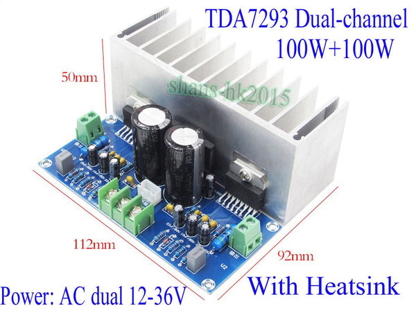 TDA7293 Audio Amplifier Board 100W*2 Digital Stereo Power Amplifier Board
