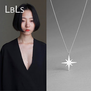 925 Sterling Silver Long Necklace Star Long Chain sterling-silver-jewelry
