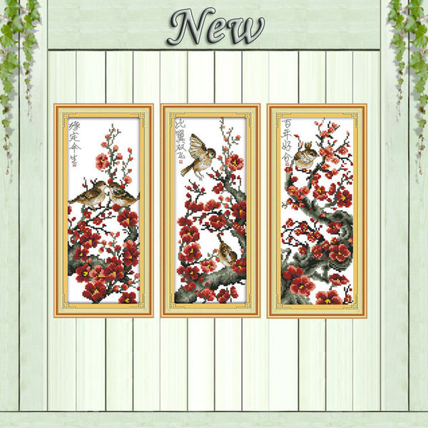 Love flower bird scenery decor painting counted print on canvas DMC 11CT 14CT Chinese Cross Stitch