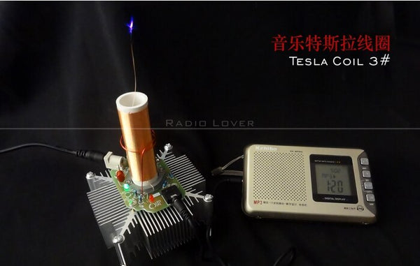 Music Tesla coil   Loudspeaker with Music Tesla Coil