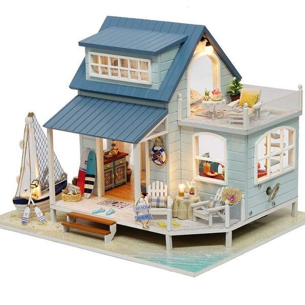 Doll House Miniature DIY Doll Toys For Children Birthday Gift PROVENCE A032