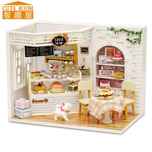 哈 Assemble DIY Wooden House with Furniture  Miniature House Dollhouse Toys for Children h014