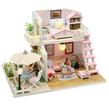 Load image into Gallery viewer, 哈 Assemble DIY Wooden House with Furniture  Miniature House Dollhouse Toys for Children h014