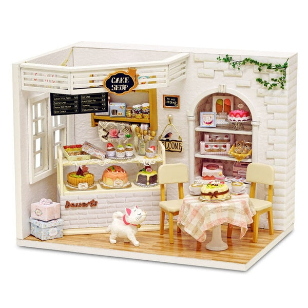 Doll House Furniture Diy  3D Wooden Dollhouse Toys for Children Gifts Cake Diary H14