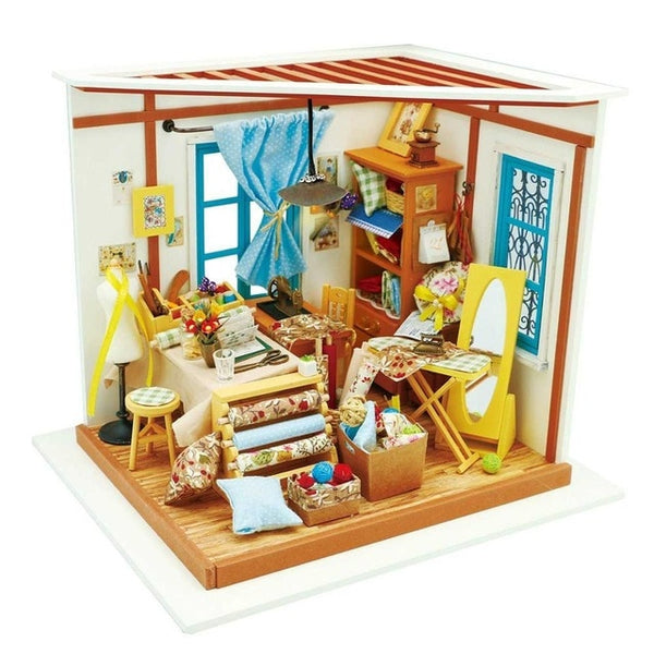 Doll House DIY Dollhouse Toys For Children Sam's Bookstore Robotime DG102